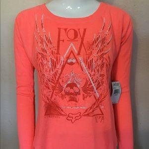 Fox Eve Long Sleeve XSMALL Salmon Shirt Women's